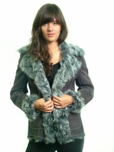 BLUE LAMB SUEDE JACKET