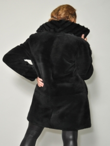 BLACK NUTRIA 7/8 COAT
