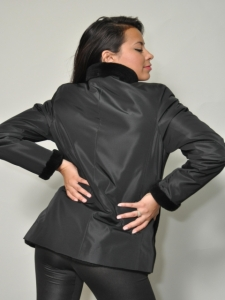 REVERSIBLE BLACK NUTRIA JACKET