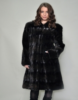 NATURAL SCULPTURED MINK COAT