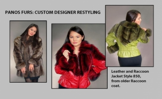 WARM RED LEATHER JACKET & LIME GREEN LEATHER JACKET