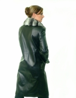 BLACK LEATHER COAT