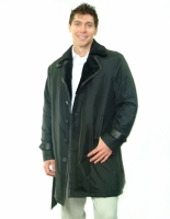 BLACK FABRIC COAT