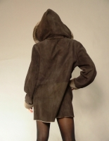 BROWN BRISA SHEARLING JACKET