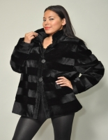 BLACK CHINESE MINK JACKET