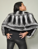 NATURAL CHINCHILLA CAPE